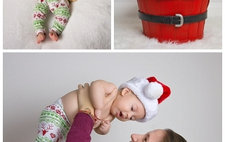 baby in santa hat for Christmas