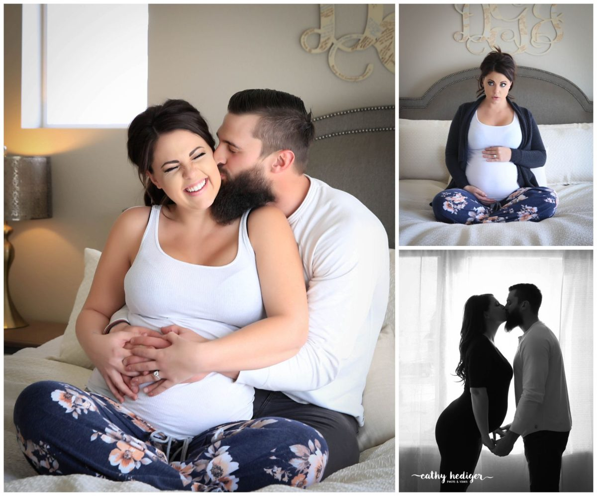 super fun maternity photo session