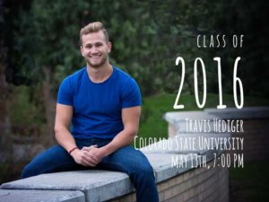 graduation announcement design and photography