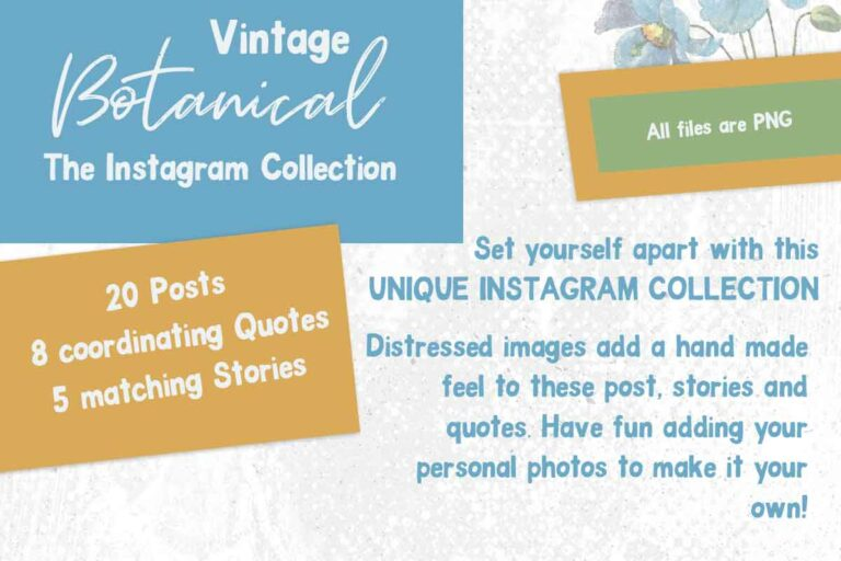 Instagram Templates Vintage Botanical
