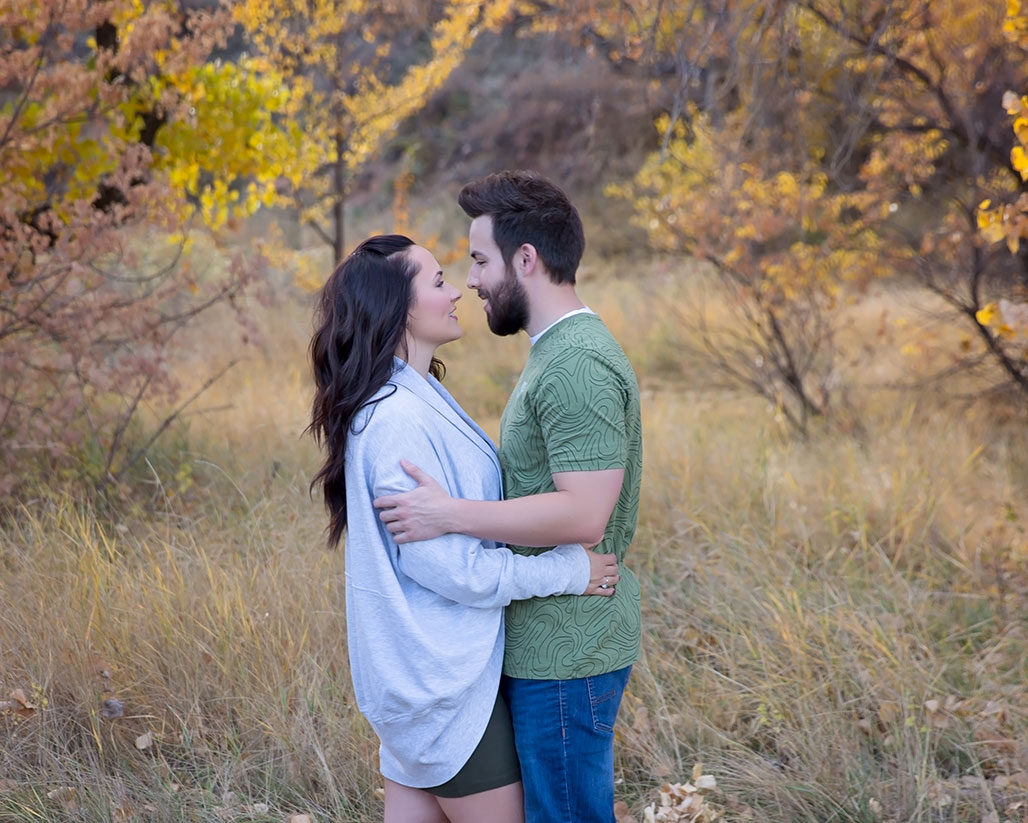 Engaged couple photography at Devil's Backbone in Loveland, Colorado